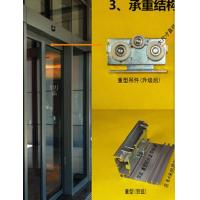 China 420 / 600cm Rail Automatic Glass Sliding Doors Commercial With Selflearning Function wholesale