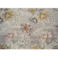 China Decoration Flora Design Kitchen Curtain Fabric With Soft Handfelling wholesale