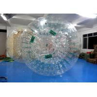 China Water Walking Inflatable Zorb Ball , Giant Hamster Ball For Humans 3.6m x 2.2m wholesale