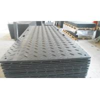 China hdpe single-sided pattern temporary road mat black ground protection mat wholesale