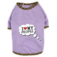 China Dog Clothes I Love My People Printed Shirt Dress Cat Puppy Clothes Coat wholesale
