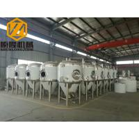 Quality Beer Brewing Conical Fermenter 10HL 2mm Cooling Jacket #4 Finished Exterior for sale