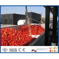 China Tomato Sauce Making Machine Tomato Paste Production Line With Hot / Cold Break System on sale