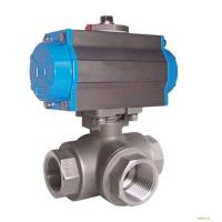 China Silver Actuated Pneumatic Ball Valve Fire Protection Design With Thread wholesale