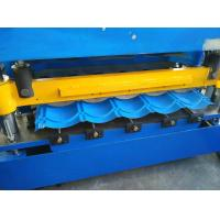 China Hydraulic Cutting Roof Glazed Tile Roll Forming Machine PLC Automatic Control wholesale