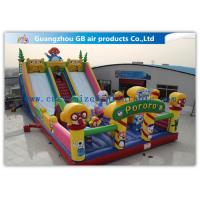 China Waterproof Pororo Inflatable Double Slip And Slide Inflatable Fairyland Park For Playing wholesale