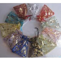 Transparent Drawstring Jewelry Pouch Screen Printing Logo Wedding Gift Bags