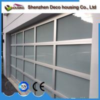 China Anodized aluminum frame frosted glass garage door panels prices wholesale