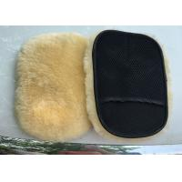 China Extra Thick Single Sided Car Polishing Mitt Gentle Surface Without Washing Marks wholesale