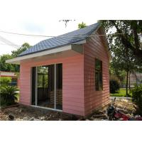 China EPS Sandwich Panel Roof Pink Cladding Prefab Steel House For Reception Room wholesale