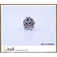 China High quality and competitive price 316l stainless steel death's - head ring H-JK0036 wholesale