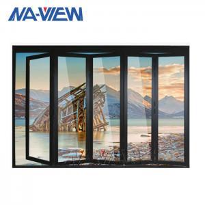 China Frameless 6063 T5 Aluminium Bifold Windows Laminated Glass wholesale
