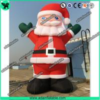 China Advertising Giant Inflatable Santa Claus Cartoon Christmas Decoration Inflatable Mascot wholesale