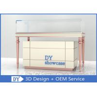 Quality Custom Cream - Colored Jewelry Showcase Display / Jewelry Store Fixtures for sale
