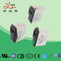 China Dual Fuse 50/60HZ 220V 10A IEC Inlet Plug-In low pass noise RFI EMI Filter For audio equipment easy installed wholesale