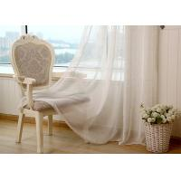 China Linen Yarn Blending Pure White Bathroom Window Curtains With Different Size wholesale