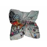 China Branded Square Silk Scarf (LC009) wholesale