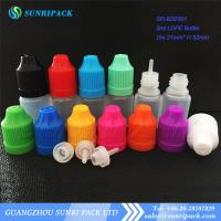 China 3ml LDPE e-liquid bottle, plastic bottle with child proof and tamper evident cap wholesale