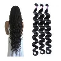 China 30 Inch Body Wave Long Indian Human Hair Weave 100 Grams / Piece wholesale
