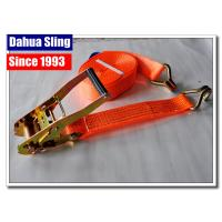Buy cheap J Hook Auto Ratchet Tie Down Straps 5000 Lb Ratchet Straps 100% Polyester from wholesalers