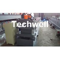China Roof Ridge Cap Cold Roll Forming Machine with HRC 50-60 Cutting Blade wholesale