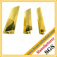China polished brass floor tee nosing brass extrusions profile on sale