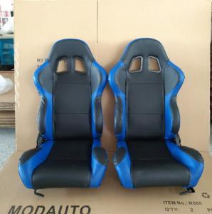 China Adjustable Race Car Seats Blue Pvc Seats Single Adjuster And Single Slider wholesale
