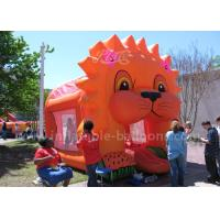 China Cartoon Aminal Inflatable Bouncy Castle , Inflatable Lion Jumping Castle For Kids wholesale