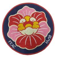 China Decorative Flower Personalised Iron On Patches Durable Shrink Proof wholesale