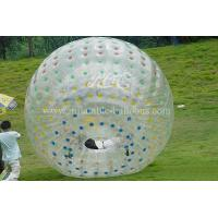 China Transparent Inflatable Walking Ball , Pvc Soft Handle Water Zorb Ball Football wholesale