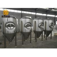 Quality Side Manhole Conical Beer Fermenter 5000L With Dual Zone Cooling Jacket for sale