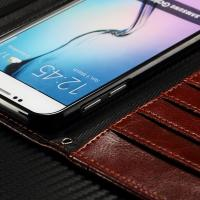 China Envelop Style Samsung Leather Wallet Case For Galaxy S7 Litchi Drop Protection on sale