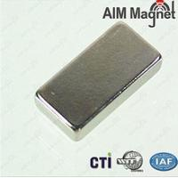 China Strong N52 NdFeB Rectangle shape/Block Magnet 4800 Guass on sale