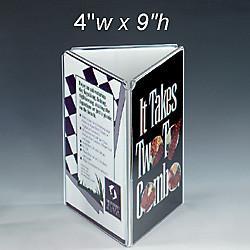 Quality Three Sides Acrylic Menu Holder for sale