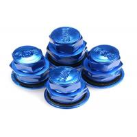 China Blue Colored Valve Stem Caps / Tire Air Valve Cap Rubber Metal Valve Mouth wholesale