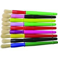 China 9 Colors Plastic Handle Paint Brushes , Colorful Watercolor Paint Brush Set OEM Avaliable wholesale