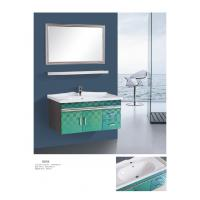 China Modern Stainless Steel Bathroom Cabinet With Mirror Wall Mounted Different Colors on sale