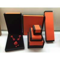 China Fashion Orange Paper Plastic Hinged Jewelry Gift Boxes Recyclable wholesale