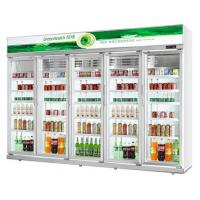 China 5 Layer And Adjustable Shelf Commercial Beverage Cooler 400L / 800L / 1220L wholesale