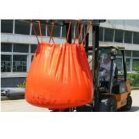 China Waterproof Orange PVC Recycled Jumbo Bag Storing Hazardous And Corrosive Products wholesale