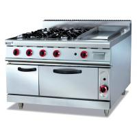 Energy-saving Electric 380V Stainless Gas Range With Griddle 4.8KW for Cooking