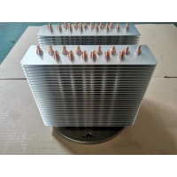 China High Precision Copper Pipe Heatsink Aluminum Stacked Fin Heatsink For LED And CPU wholesale