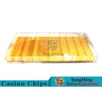 China Mixing Gold Luxury Casino Chip Tray Yellow Color For Gambling Porker Chip Games wholesale
