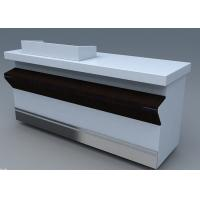 China Commercial Steel Edge Retail Shop Counters , Practical Store Checkout Counter wholesale