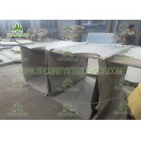 China Military Bastion Welded Gabion Wire Mesh Coverd With Waterproof Geotextile wholesale