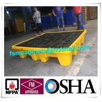 Quality Oil Tank Storage HDPE Spill Containment Pallets, Spill Pallet for 220L Oil Drum for sale