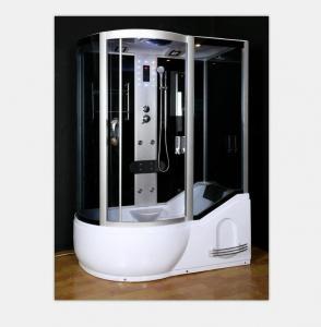 China Polished Frame Steam Shower Enclosure , Steam Shower Cubicle Single Door Sliding Style wholesale
