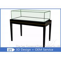 China OEM Simple Modern Wood Black Exhibition Plinths With Lights Fully Assembly wholesale