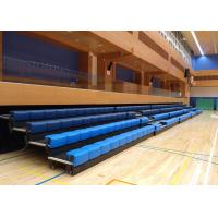 China Power Control Retractable Grandstands Retractable Seating System Recessed Polymer Bench wholesale