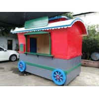 China Street Food Vending Wood Kiosk Coffee Cart For Load And Transport wholesale
